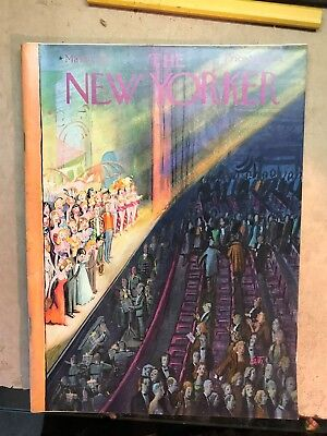 New Yorker March 10 1956 Complete Magazine Cover Art Getz    Broadway