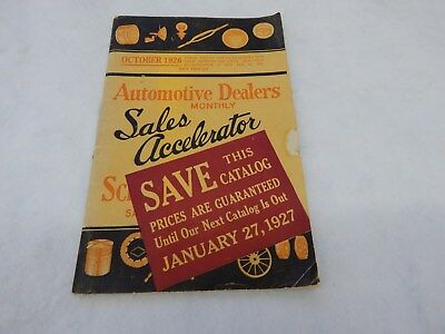 "Vintage Auto Parts Catalog From 1926 "" Automotive Dealers Monthly""- Must See!"