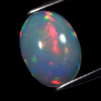 Good Flash 4.34ct Oval Cabochon Natural Play-of-Color Crystal Welo Opal Ethiopia
