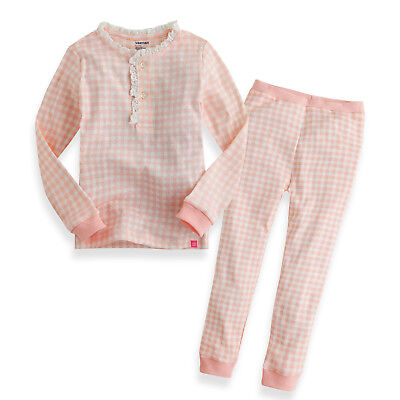 "Vaenait Baby Clothes Toddler Girls Sleepwear set ""Long Lacy Check"" L(4-5T)"