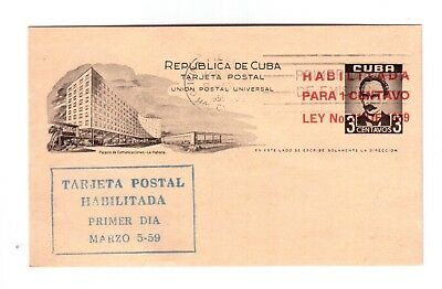 Caribbean 1959 Used Advertising F.d.c. Postal Stationery Postcard !!