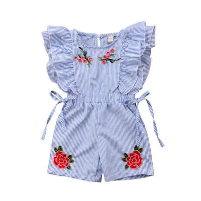 Summer Newborn Baby Girl Kid Sleeveless Romper Jumpsuit Playsuit Clothes Outfits