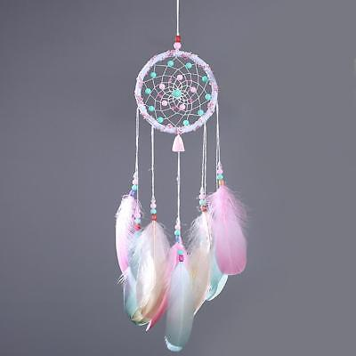 7-Color Flying Wind Car Home Decor Feather Handmade American Indian Dreamcatcher