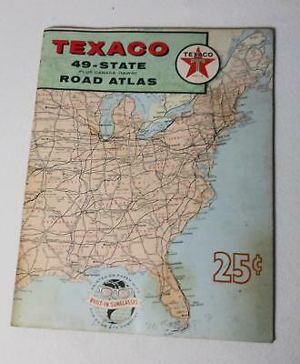 Vintage Texaco 49 US States, Canada, Hawaii Road Atlas Maps 1959