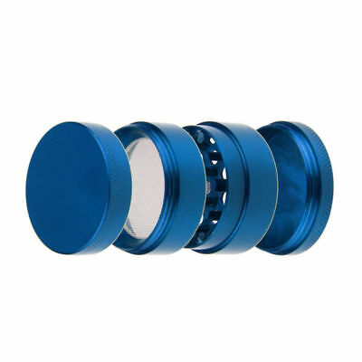 Large Spice Tobacco Herb Weed Grinder-4 Pcs Crusher 50mm Gift Blue