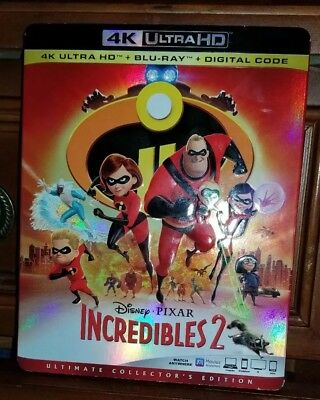 Incredibles 2 (4K Ultra HD + Blu-ray + No Digital, 2018)Like New with Slipcover