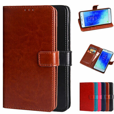 For Samsung J3 2018 / J3 Achieve PU Leather Wallet Card Flip Stand Cover Case