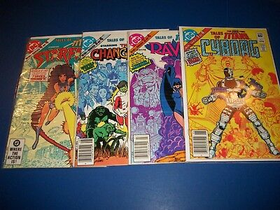 Tales of the New Teen Titans #1,2,3,4 lot of 4 Fine to VF Starfire