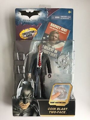 Batman Dark Knight Harvey Dent Coin Blast Two-Face Action Figure MOC, (B63)