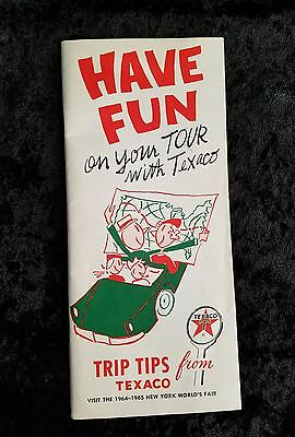 1960's Vintage Texaco Trip Tips Brochure