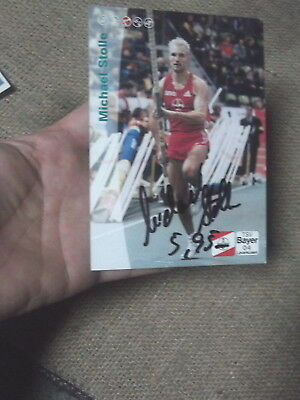 Michael Stolle Olypic Pole Vaulter Signed Fancard