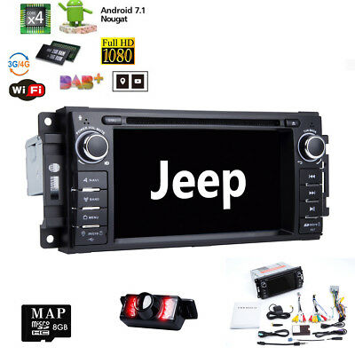 For Dodge Caravan RAM Magnum Car Stereo Android 7.1 GPS Navi Radio Head unit Sat