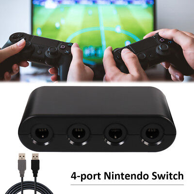4 Port Gamecube NGC Controller Adapter For Nintendo Wii U & Switch and PC TURBO