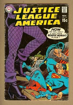 Justice League of America #75 - Key Issue - Black Canary Joins Team - DC 1969