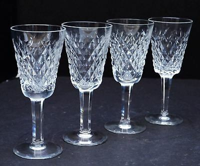 Waterford Alana Crystal Cut Sherry wine Glasses goblets stemware Set Of 4 lot