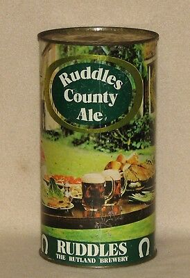 Ruddles County Ale Flat Top Beer Can Rutland Brewery England  4 Pints Empty