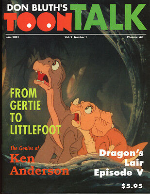 Don Bluth. TOON TALK. January, 2001. Dragon's Lair, Land Before Time