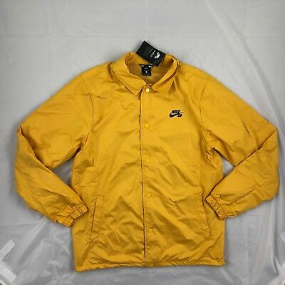 bf7220e028 Nike SB Shield Button Up Coaches Jacket Mineral Gold Yellow 829509-716  Men s L