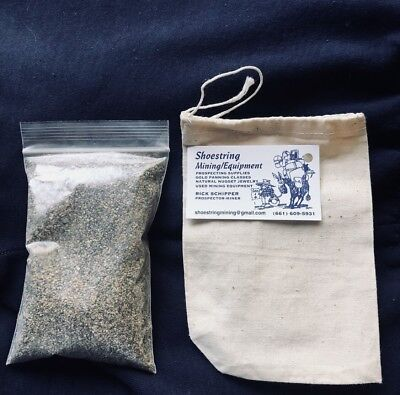 1lb Bag gold  Paydirt 100% Unsearched Panning Sand Guaranteed Gold Added Gift Id