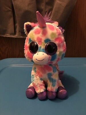 "9"" WiSHFUL The UNiCORN Ty Beanie Boos Glitter Eyes With Tags"