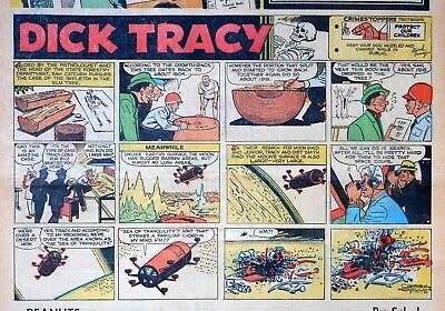 Dick Tracy by Chester Gould - Moon story - half-page Sunday comic - May 17, 1964