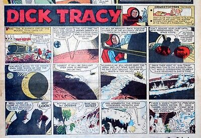 Dick Tracy by Chester Gould - Moon story - half-page Sunday comic - May 24, 1964