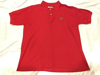 4221d936 Vintage Chemise Lacoste Men's Red Cotton Polo Shirt Made In France - XL