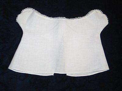 Antique Victorian Edwardian DOLL~Corset Cover Camisole Blouse-Linen Tatted Lace