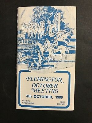 Racebook Vrc Oct 4Th 1980 Turnbull Stakes, Edward Manifold Stakes Meeting