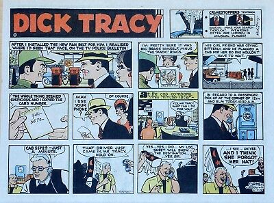Dick Tracy by Chester Gould - large half-page color Sunday comic - June 9, 1974