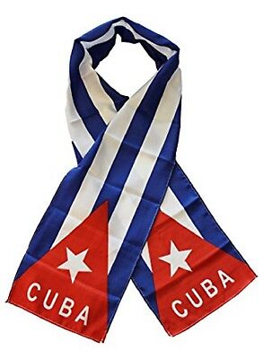"Cuba Country Lightweight Flag Printed Knitted Style Scarf 8""x60"""