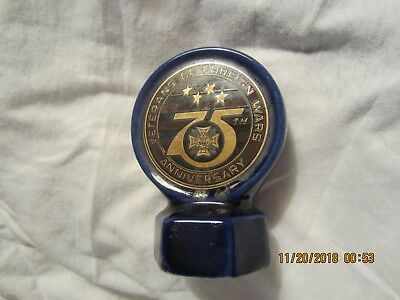 Vfw Decanter Top, Vfw 75Th Anniversary,  Exra Brooks Distilling Co. 1973 Whisky