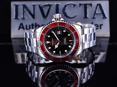Invicta Men 43mm Submariner Deep Pro Diver 200M PC32A Quartz SS Bracelet Watch