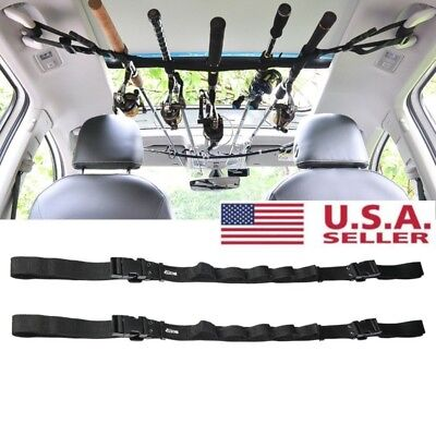 Car Fishing Rod Belt Carrier Rod Holder Strap With Tie Suspenders Wrap 5 Roads