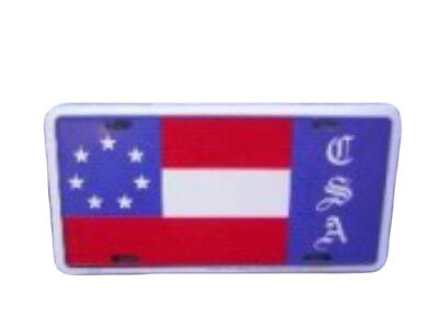 """1st National Stars And Bars 7 Star CSA 6""""x12"""" License Plate Sign"""