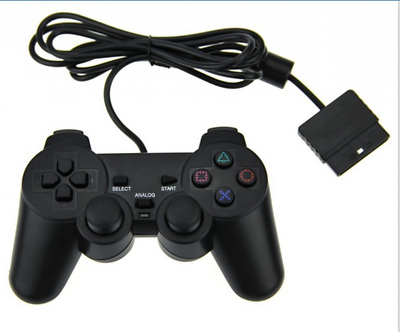 KUYOO PS2 Wired Game Controller for Sony Playstation 2 Black