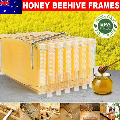 7PCS Upgraded Auto Flow Bee Hives Honey Beekeeping Beehive Comb Frame Harvesting
