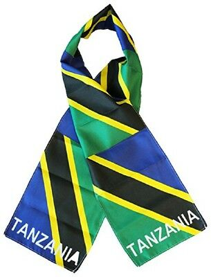 "Tanzania Country Lightweight Flag Printed Knitted Style Scarf 8""x60"""