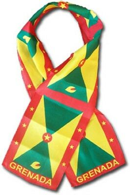 "Grenada Country Lightweight Flag Printed Knitted Style Scarf 8""x60"""