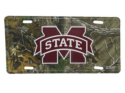 """Mississippi State Bulldogs Camo Camouflage 6""""x12"""" Aluminum License Plate Tag"""