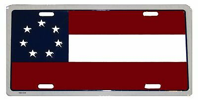 """1st National Stars And Bars 7 Star 6""""x12"""" License Plate Sign First National"""