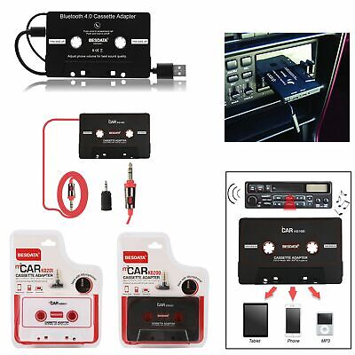 Car Auto Cassette Tape Music AUX Audio Adapter Converter For MP3 iPhone iPod