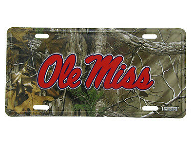 """Ole Miss Mississippi Rebel Camo Camouflage 6""""x12"""" Aluminum License Plate Tag"""