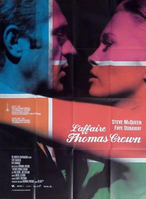 THE THOMAS CROWN AFFAIR - DUNAWAY / McQUEEN - REISSUE LARGE FRENCH MOVIE POSTER