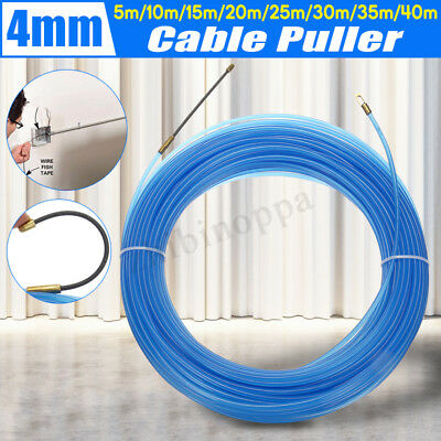 4mm Fiberglass Fish Tape Reel Electrician Pipe Wire Cable threader Rodder Puller