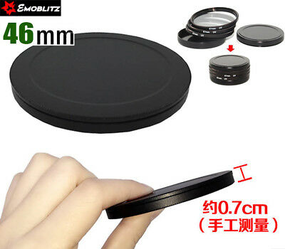 46 MM Screw-in Filter Stack Cap Black Metal Filter Case Quality Protect Filters
