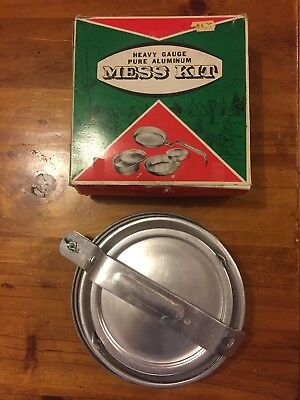 Collectable Vintage Aluminium Mess Kit Camping Fishing Hunting Scouts Army