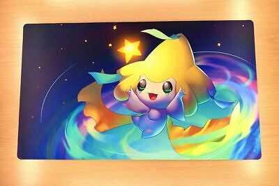 F3422 Free Mat Bag Custom Playmat Pokemon Game Playmat Jirachi Play Mat Desk Mat