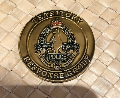 Australian Northern Territory Police tactical operations challenge coin