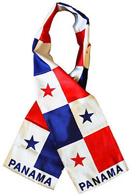 "Panama Country Lightweight Flag Printed Knitted Style Scarf 8""x60"""